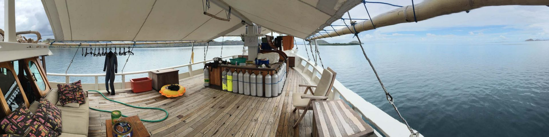 the deck of our luxury liveaboard